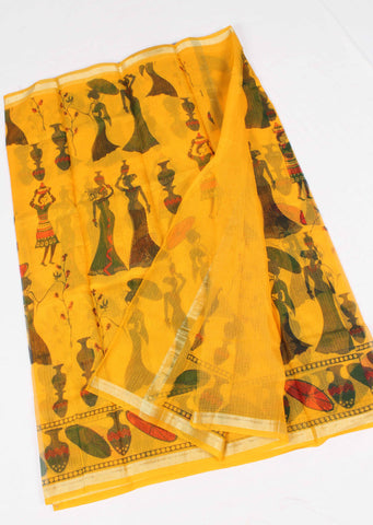 Kota Screen Printed Art silk / Cotton Saree - fKOTA06074
