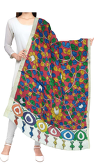 Pen Kalamkari Hand Painted Cotton Dupatta - WD0007