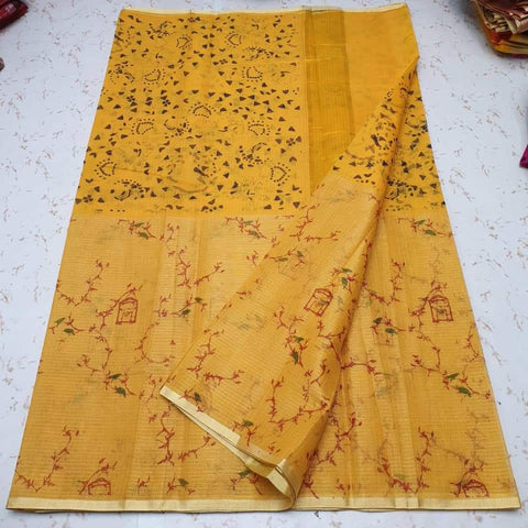 Kota Screen Printed Art Silk / Cotton Saree-KOTA07566