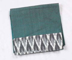 Mangalagiri Ikat Patch Border Blouse Material-WUB00705