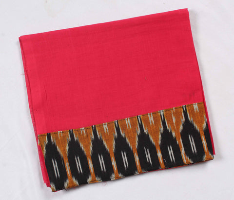 Mangalagiri Ikat Patch Border Blouse Material-WUB00718