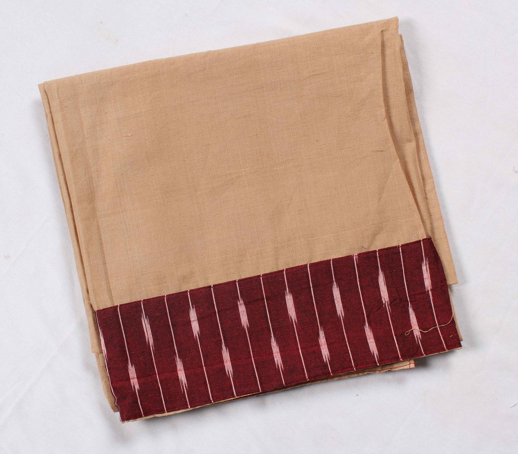 Mangalagiri Ikat Patch Border Blouse Material-WUB00725