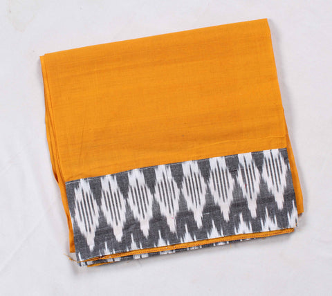 Mangalagiri Ikat Patch Border Blouse Material-WUB00735