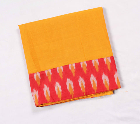 Mangalagiri Ikat Patch Border Blouse Material-WUB00738