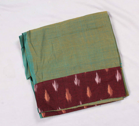 Mangalagiri Ikat Patch Border Blouse Material-WUB00753