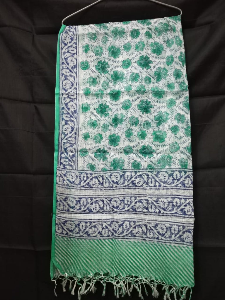 Kota Block Printed Silk / Cotton Dupatta