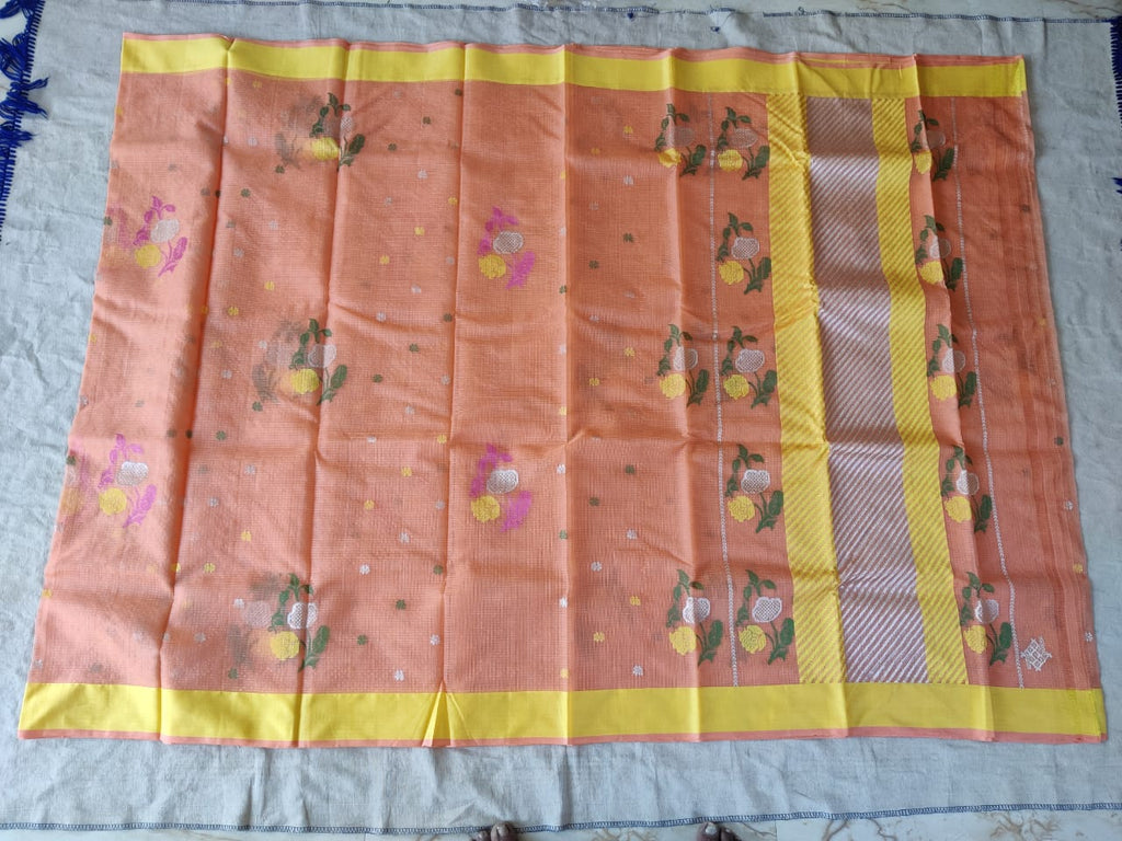 Kota Doria Silk / Cotton Buttas Design Saree With Blouse