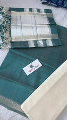 Mangalagiri Silk / Cotton Zari Border Dress Material