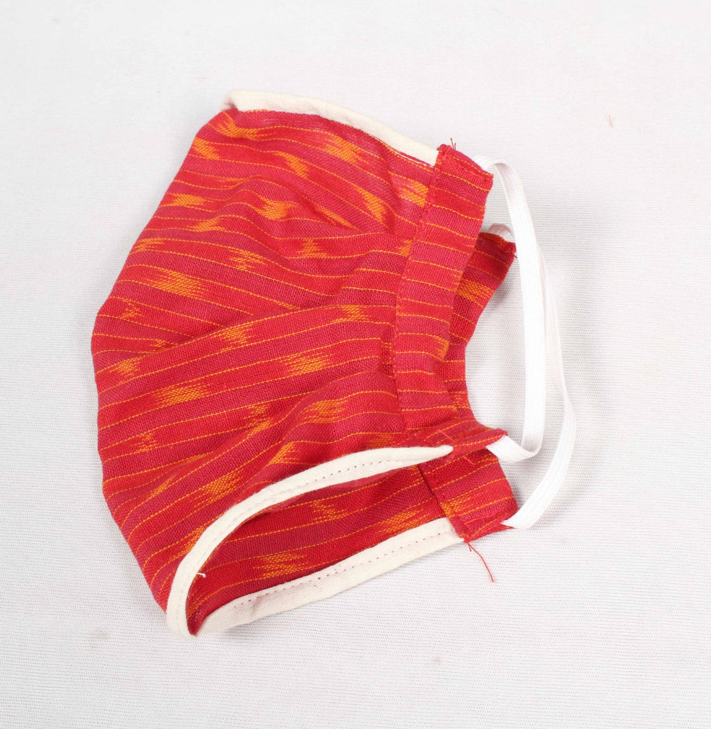 Pochampally Ikat Coton Face Masks ( Pack Of 5 )