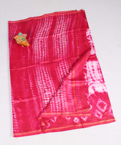 Chanderi Shibori Silk / Cotton Saree