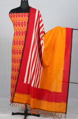 Handloom Pochampally Ikat Cotton Dress material(2Pcs)
