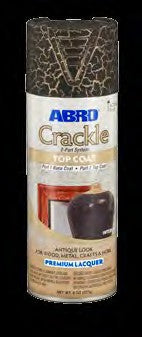 Abro Crackle Top Coat Black