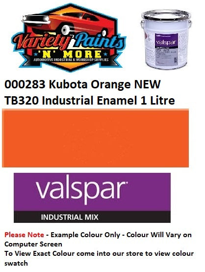 000283 Kubota Orange NEW TB320 Industrial Enamel 1 Litre