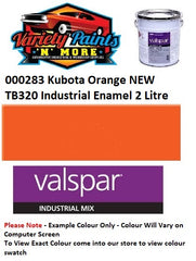 000283 Kubota Orange NEW TB320 Industrial Enamel 2 Litre