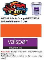 000283 Kubota Orange NEW TB320 Industrial Enamel 4 Litre