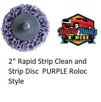 "2"" Rapid Strip Clean and Strip Disc  PURPLE Roloc Style"