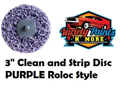 "3"" Rapid Strip Clean and Strip Disc  PURPLE Roloc Style"