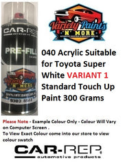 040 Acrylic Suitable for Toyota Super White VARIANT 1 Touch Up Paint 300 Grams