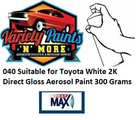 040 Suitable for Toyota White 2K Direct Gloss Aerosol Paint 300 Grams