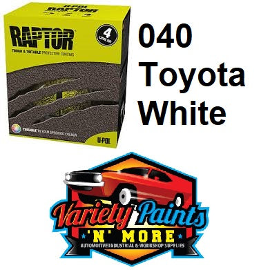 Upol Raptor Bed Liner Kit Tinted TO 040 Toyota White  1 Gallon