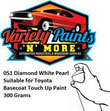051 Diamond White Pearl Suitable for Toyota Basecoat Touch Up Paint 300 Grams