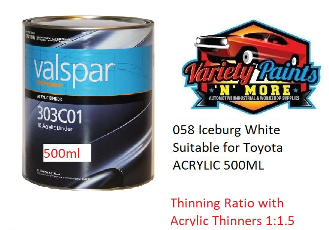 058 Iceburg White Suitable for Toyota ACRYLIC 500ML