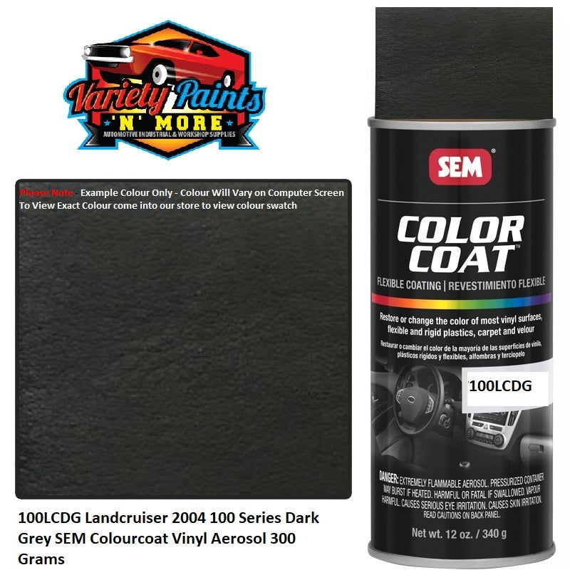 100LCDG Landcruiser 2004 100 Series Dark Grey SEM Colourcoat Vinyl Aerosol 300 Grams