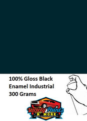 100% Gloss Black Enamel Custom Spray Paint 300 Grams