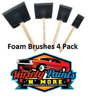 Unipro High Density Foam Brushes 4 Pack