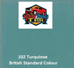 102 Turquoise Blue British Standard Custom Spray Paint
