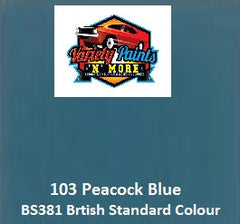 103 Peacock Blue British Standard Custom Spray Paint Variety Paints