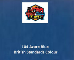 104 Azure Blue British Standard Custom Spray Paint