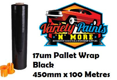 Blown Hand Pallet Wrap 500mm x 300m x 17um - Black