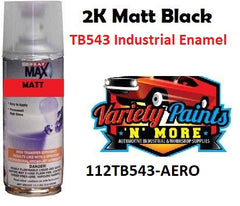 2K Matt Black TB543 Industrial Enamel Spray Paint 400ml