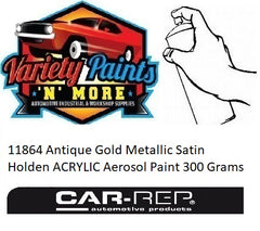 11864 Antique Gold Metallic Satin Holden ACRYLIC Aerosol Paint 300 Grams