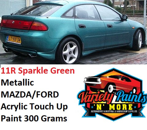 11R Sparkle Green Metallic MAZDA/FORD Acrylic Touch Up Paint 300 Grams