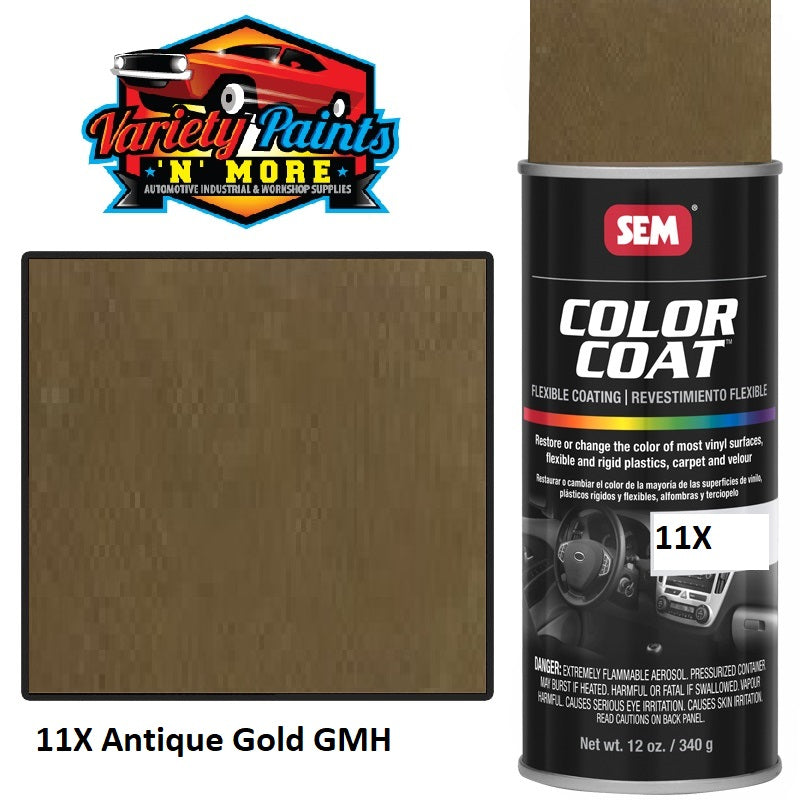 11X Antique Gold GMH  Colourcoat Vinyl Aerosol
