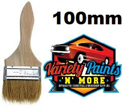 Unipro Flat Unpainted Wooden Paint Brush 100mm