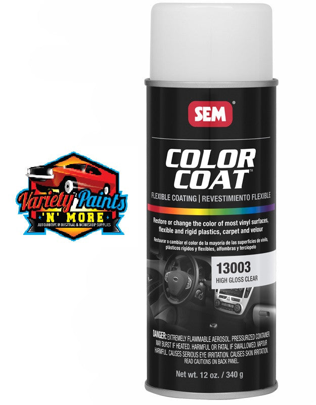 Sem High Gloss Clear Colour Coat Vinyl Plastic Aerosol Paint