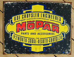 "METAL SIGN Mopar Logo '37 - '47 16"" W x 12 1/2"" H"