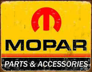"METAL SIGN Mopar Logo '64 - '71  16"" W x 12 1/2"" H"