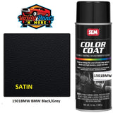 1501BMW Landau SATIN Black/Grey Satin SEM Colourcoat Vinyl Aerosol 300 Grams 80/20