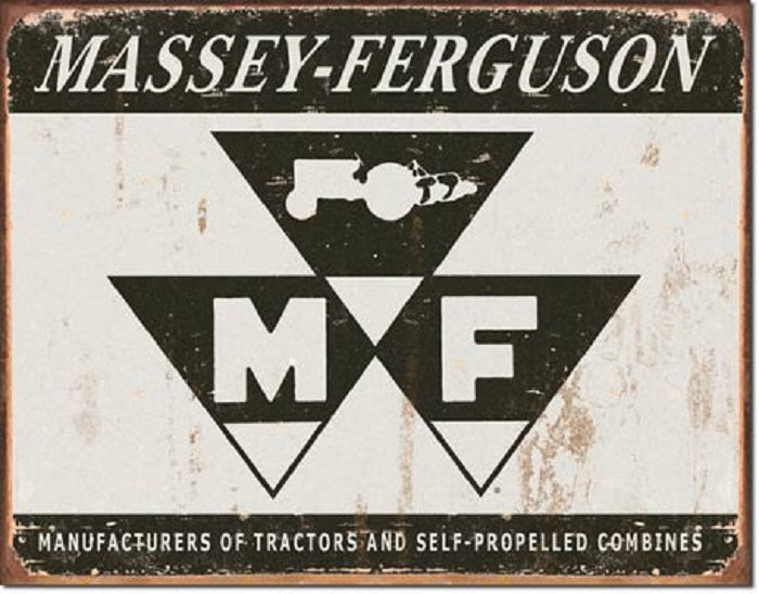 "METAL SIGN Massey Ferguson Logo  16"" x 12 1/2"""
