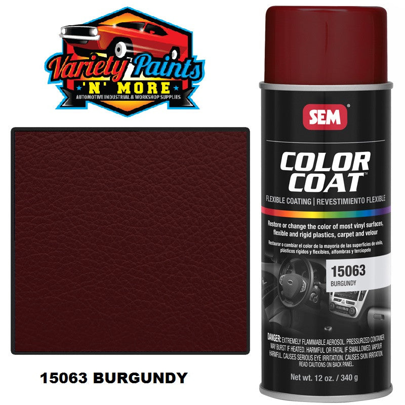 SEM Burgundy Colourcoat Vinyl Aerosol 15063  300 GRAMS