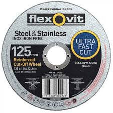Flexovit Inox Cutting Wheel 125mm x 1mm x 22mm