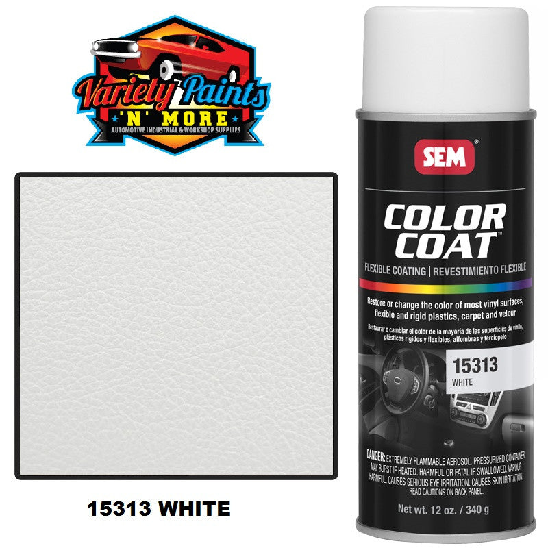 15313 White SEM Colourcoat Vinyl Aerosol 300 Grams