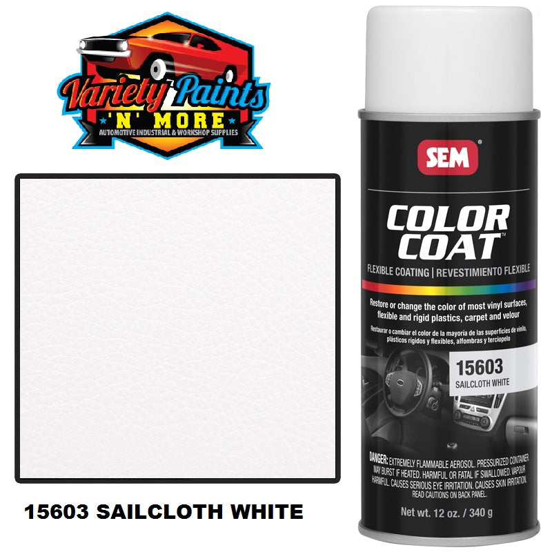 15603 Sailcloth White SEM Colourcoat Vinyl Aerosol 300 Grams
