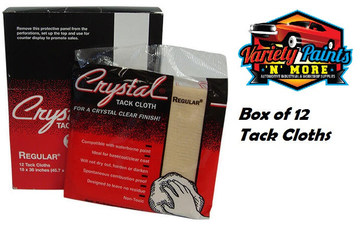 Crystal Tack Cloth Box of 12 Cloths - Counter Display