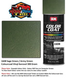 1608 Sage Green / Army Green Colourcoat Vinyl Aerosol 300 Gram