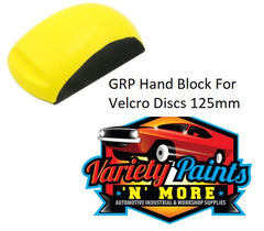 GRP Ergonomic Hand Sanding Block for 125mm Velcro Discs